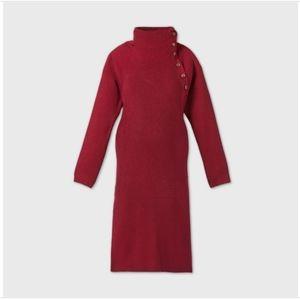 Long Sleeve Sweater Maternity Dress
